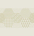 pale ivory color xmas seamless pattern vector image vector image
