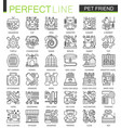 pet friend outline concept symbols perfect pet vector image vector image