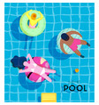 poster summer pool vector image vector image