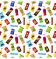 seamless pattern snack product for vending machine vector image vector image