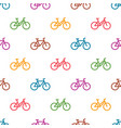 seamless pattern with colorful bikes vector image vector image