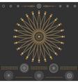 Set of geometric hipster shapes 6cBlack vector image