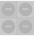 Set of White Dots Frames on Gray Background vector image vector image