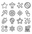 shining stars xmas and favorite icons set vector image vector image