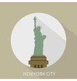statue liberty in new york icon vector image