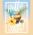 summer party card vector image vector image