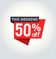 super sale banner weekend deal special offer save vector image
