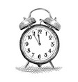 table alarm clock vector image