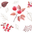 watercolor seamless pattern background of autumn vector image vector image