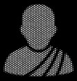 white dotted buddhist monk icon vector image vector image