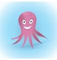 Pink Octopus vector image