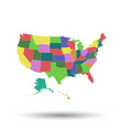america map icon flat usa sign symbol with vector image