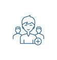 add new user line icon concept add new user flat vector image vector image