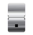 Alphabet silver flipboard letters dot vector image vector image