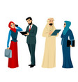 arab businessmen and businesswomen vector image