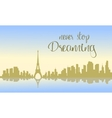 Beautiful france city of silhouette vector image vector image