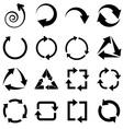 black circulation arrows set vector image