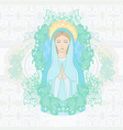 Blessed Virgin Mary portrait vector image