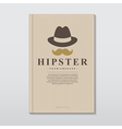Book cover in vintage hipster style vector image vector image