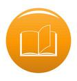 book page icon orange vector image vector image