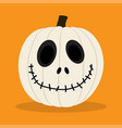 cartoon white pumkin vector image
