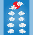 chinese cloud set isolated vector image vector image