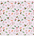 christmas holiday seamless pattern with flowers vector image vector image
