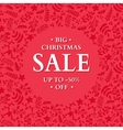 Christmas sale banner Hand drawn holiday vector image vector image