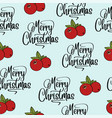 christmas seamless pattern with cranberries vector image vector image