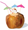Coconut Fresh Cocktail vector image vector image