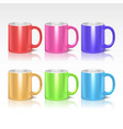 Color realistic ceramic coffee tea mugs vector image vector image