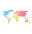 color striped map of the world vector image vector image