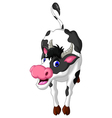 cow cartoon posing vector image vector image