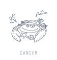 crab Cancer vector image