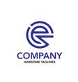 creative initial letter e circle color logo vector image