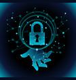 data protection by digital security hologram vector image vector image