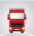 delivery truck on the road vector image vector image