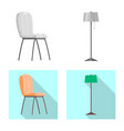 design of furniture and apartment icon set vector image