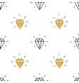 diamond seamless pattern hand drawn sketched vector image vector image