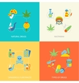 Drugs flat set vector image vector image