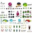 Eco nature concepts icon set vector image