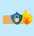 firewall network security icon vector image vector image