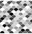 Fish scales monochrome Seamless Pattern vector image vector image