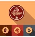 flat coffee design elements vector image