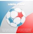 France flag with football vector image vector image