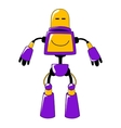 Futuristic toy robot in vivid yellow and blue vector image vector image
