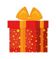 giftbox present holiday icon vector image