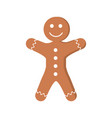 gingerbread man pastry icon image vector image vector image