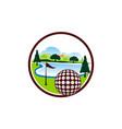 golf landscape logo design template vector image
