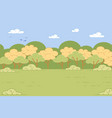 green valley with grass and trees nature landscape vector image